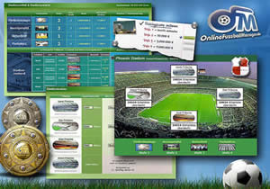 Online Fussball Manager Stadion